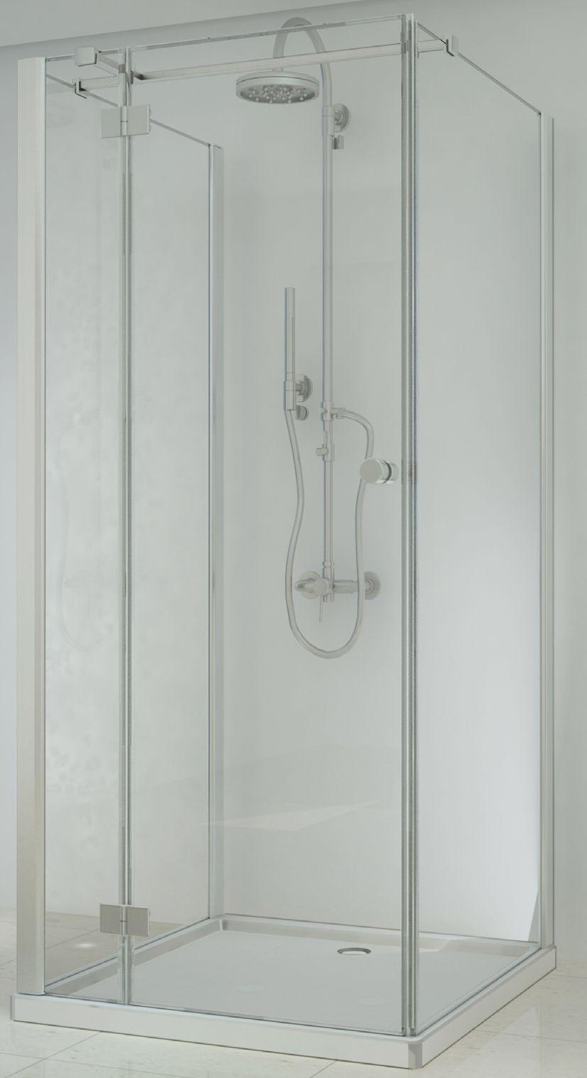 Badstuber Smart vierkante douchecabine 90x90cm 3-delig