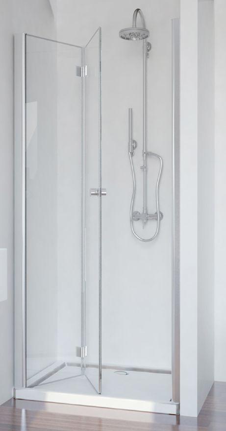 Badstuber Smart vouwdeur 80x195cm douchedeur links