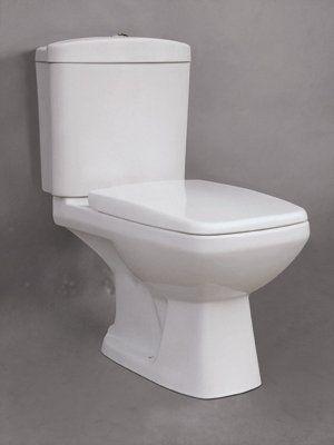 Badstuber Style duoblok toilet set wit met zitting AO