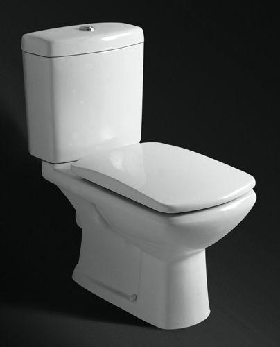 Badstuber Style duoblok toilet set wit met zitting PK