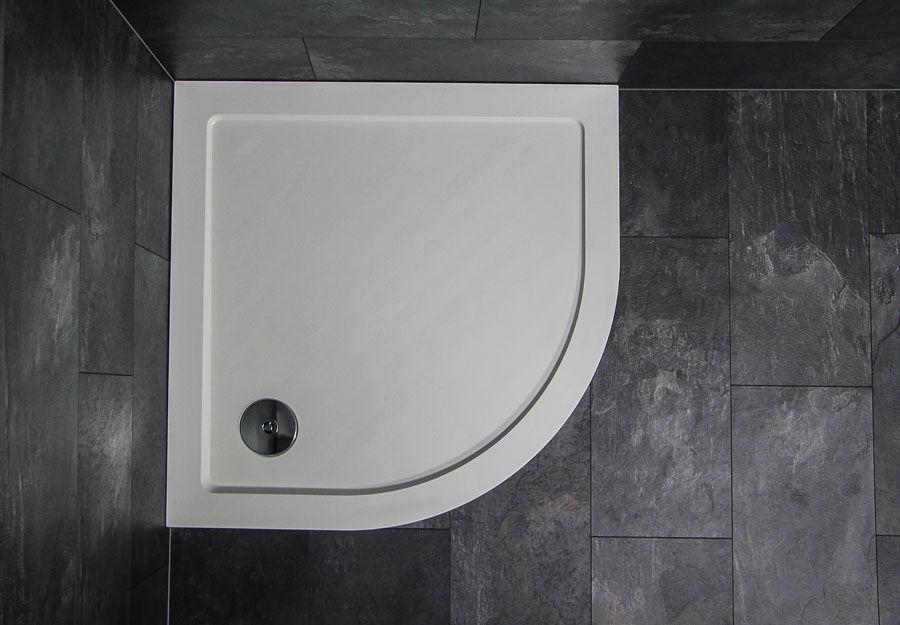 Badstuber Tris SMC douchebak 90x90x3,5cm kwartrond