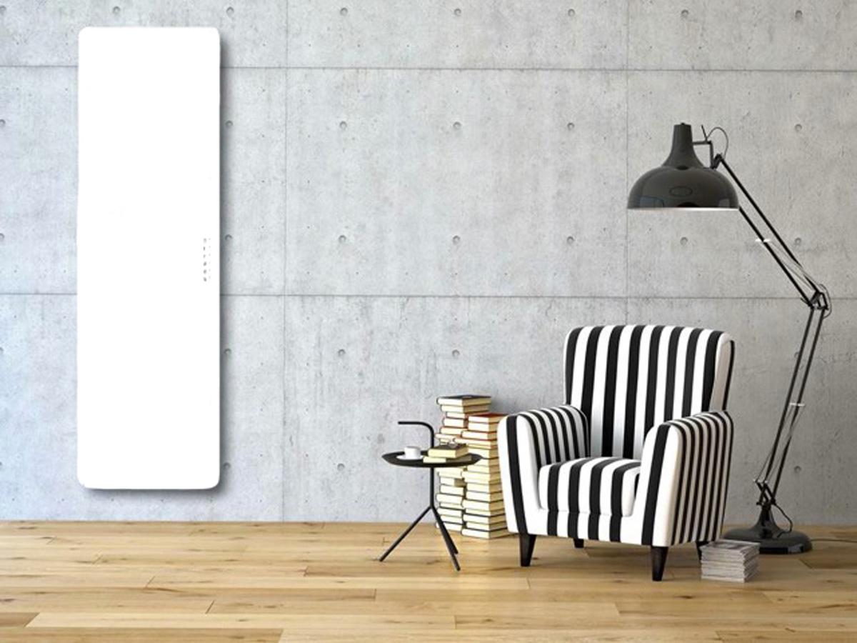 Badstuber E-rom elektrische radiator 100x50 700W wit glas