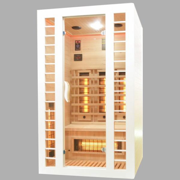 Productafbeelding van Badstuber Fresh infrarood sauna 120x105cm 2 persoons wit