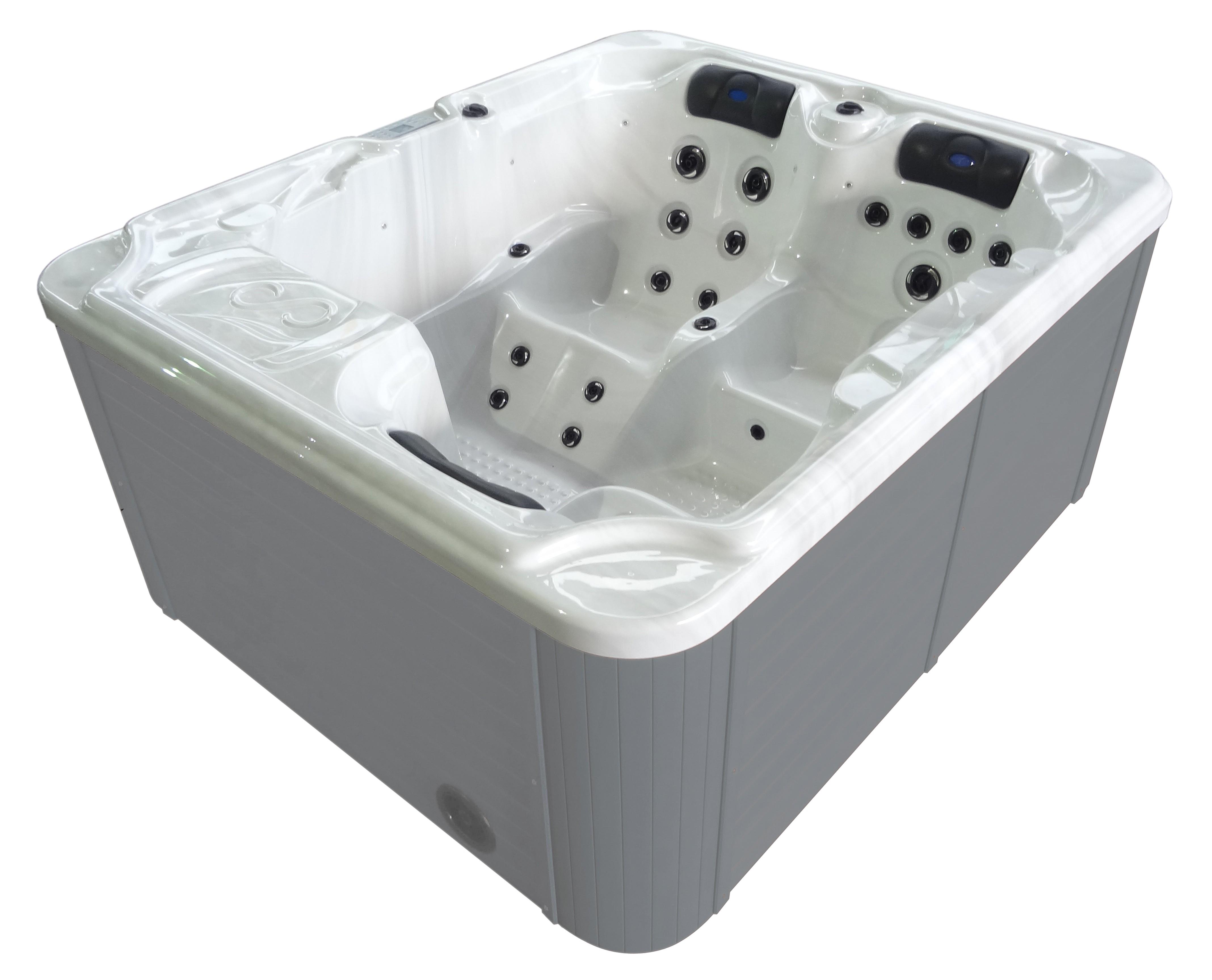 Badstuber Oasis outdoor whirlpool 3-persoons wit
