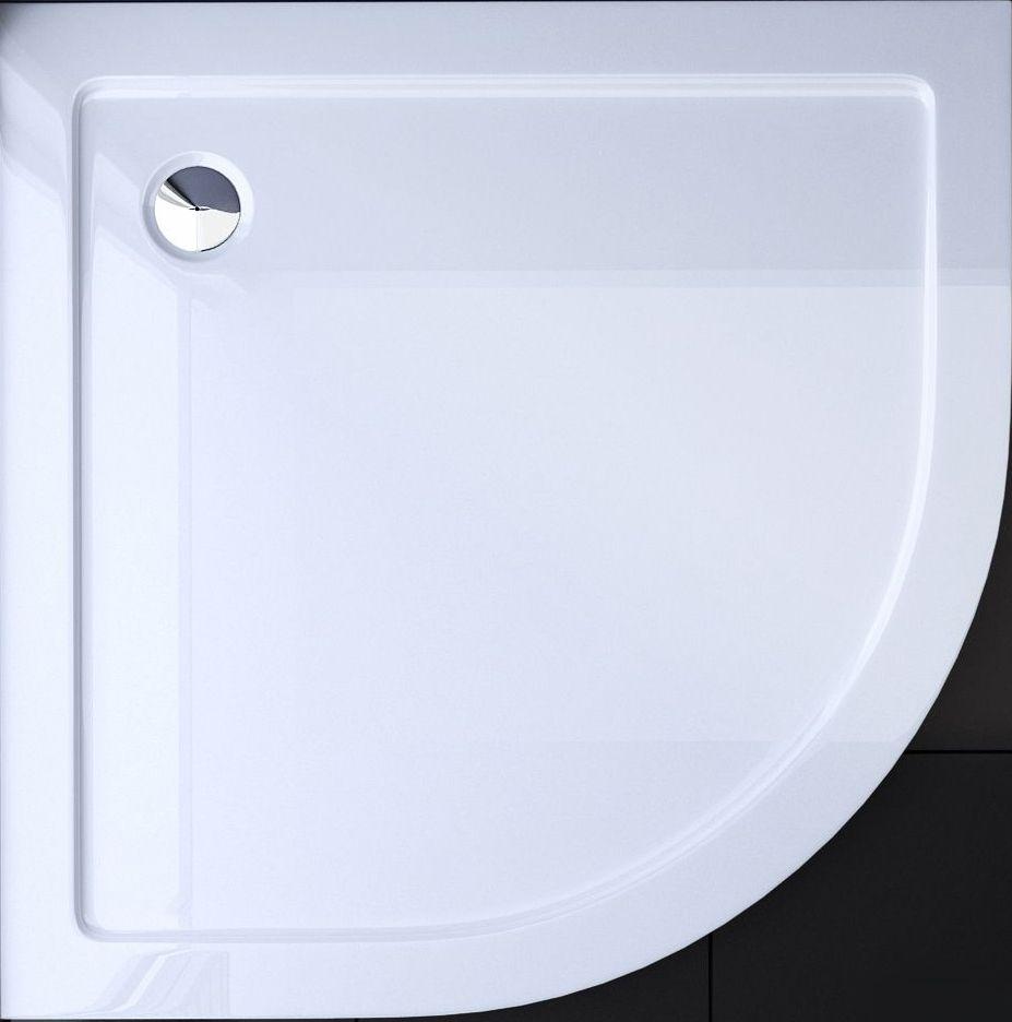 badstuber Zeus kwartronde douchebak 80x80x5,5cm wit