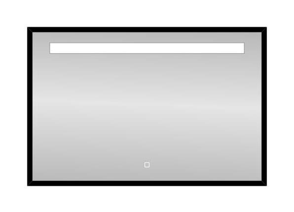 Badkamerspiegel Black Miracle 100x80cm Geintegreerde LED Verlichting Touch Lichtschakelaar