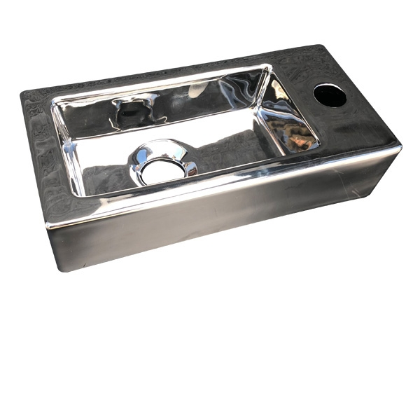 Best Design Farnetta 37x18x9cm glans zilver