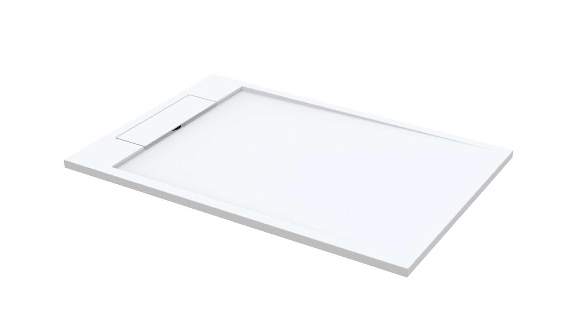 Best Design Just Solid douchebak 160x90x4.5 mat wit