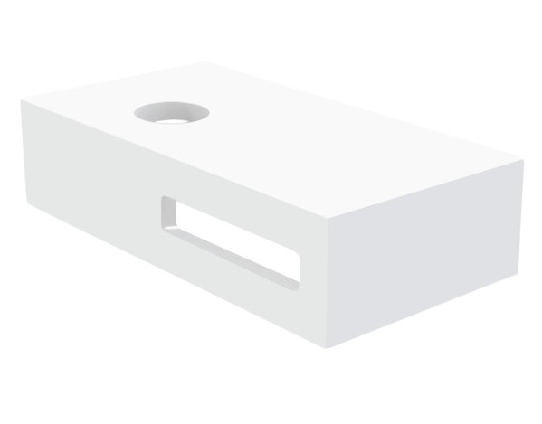 Best Design Malo fontein onderblad 40x21x10cm wit glans