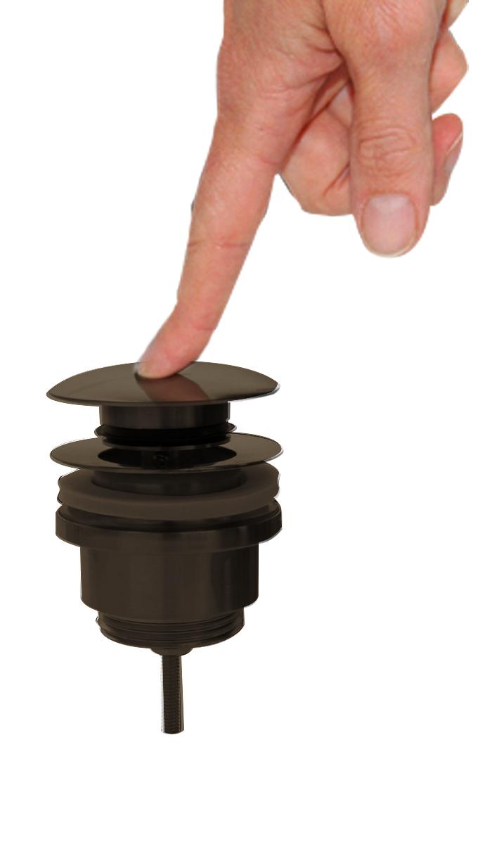 Best Design Moya afvoerplug click waste Gunmetal verouderd ijzer