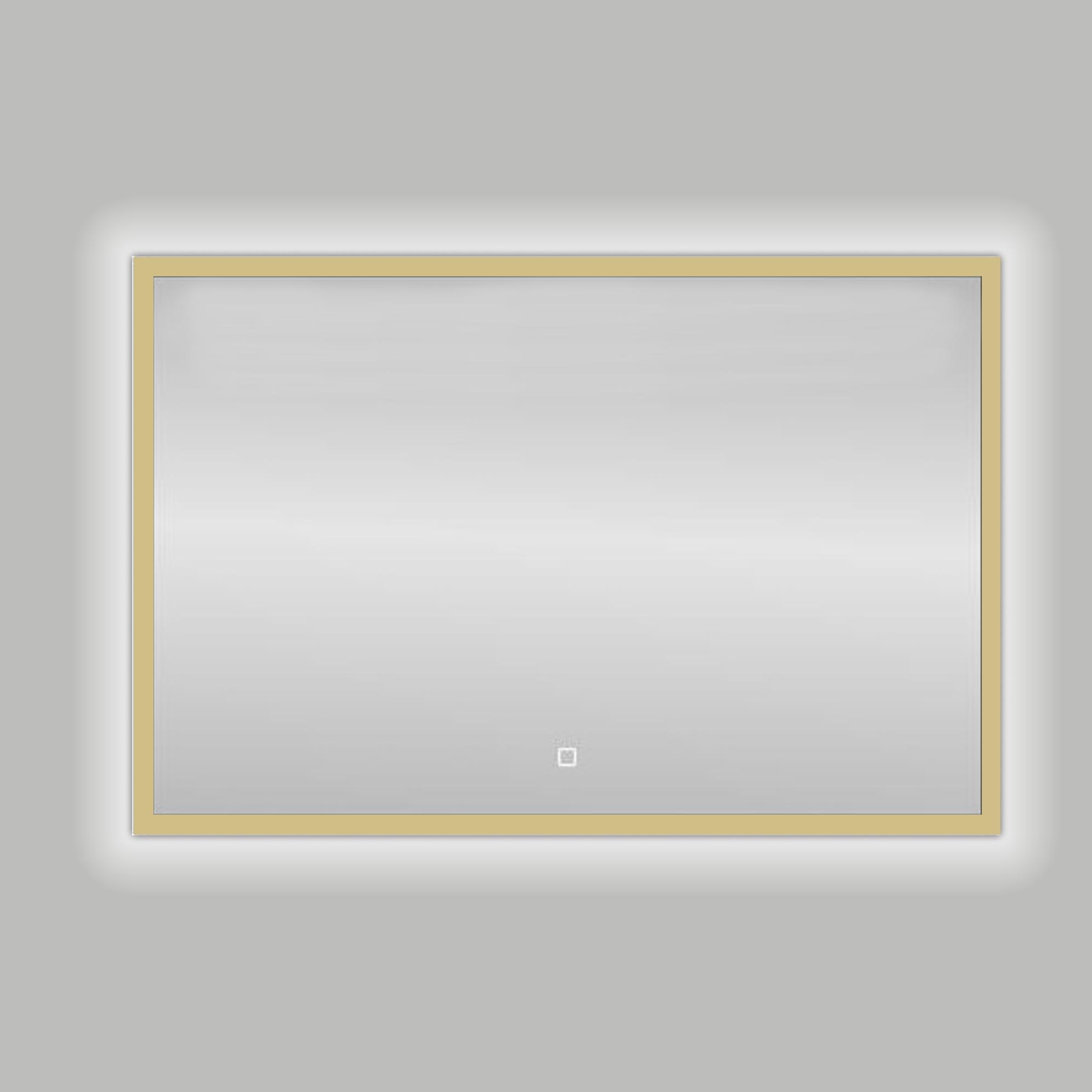 Best Design Nancy LED spiegel mat goud 80x60cm