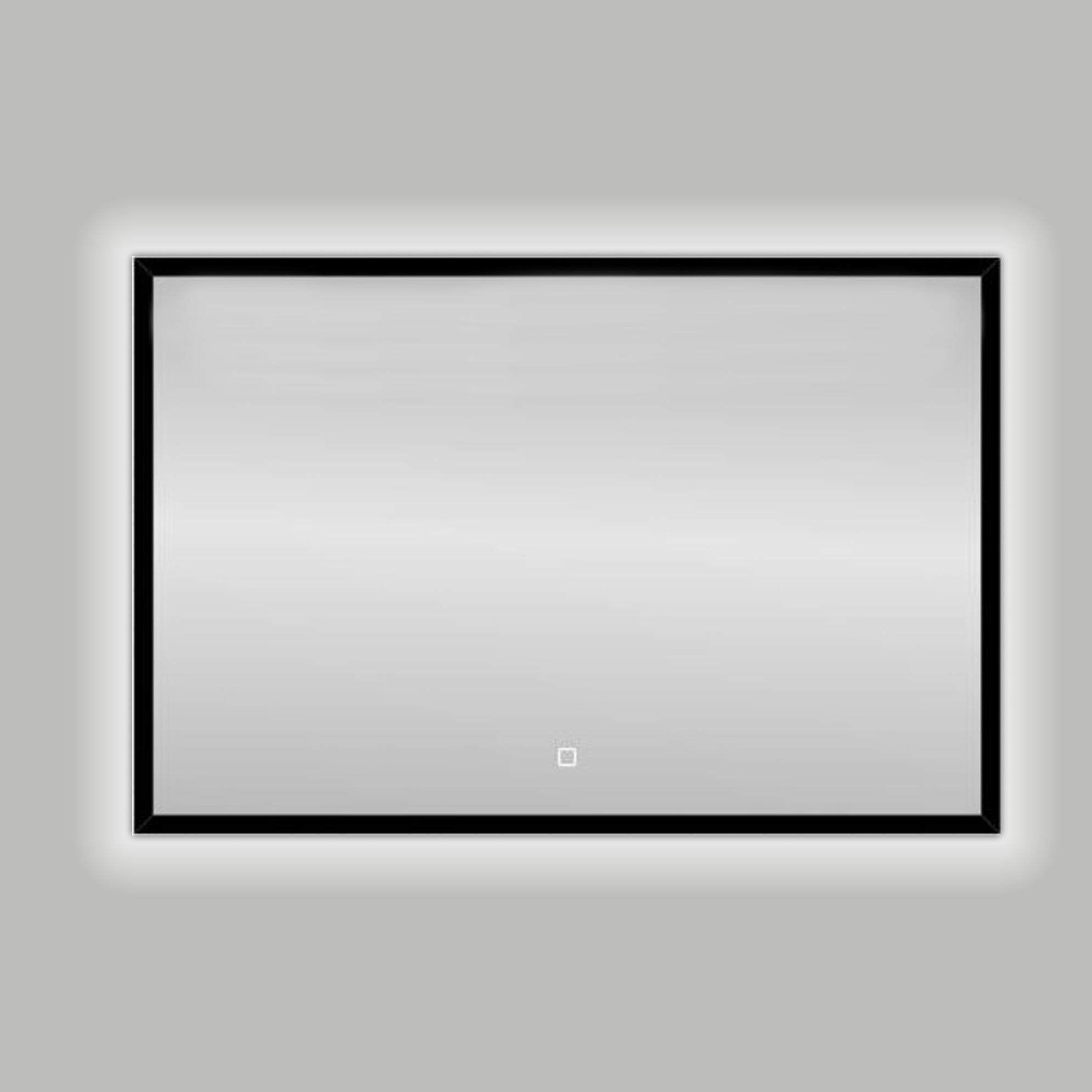 Badkamerspiegel Best Design Nero LED Verlichting 120x80 cm Mat Zwart
