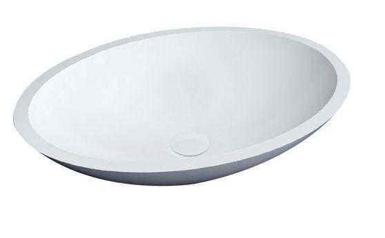Best Design New-Stone Epona opbouw waskom 52x38cm mat wit