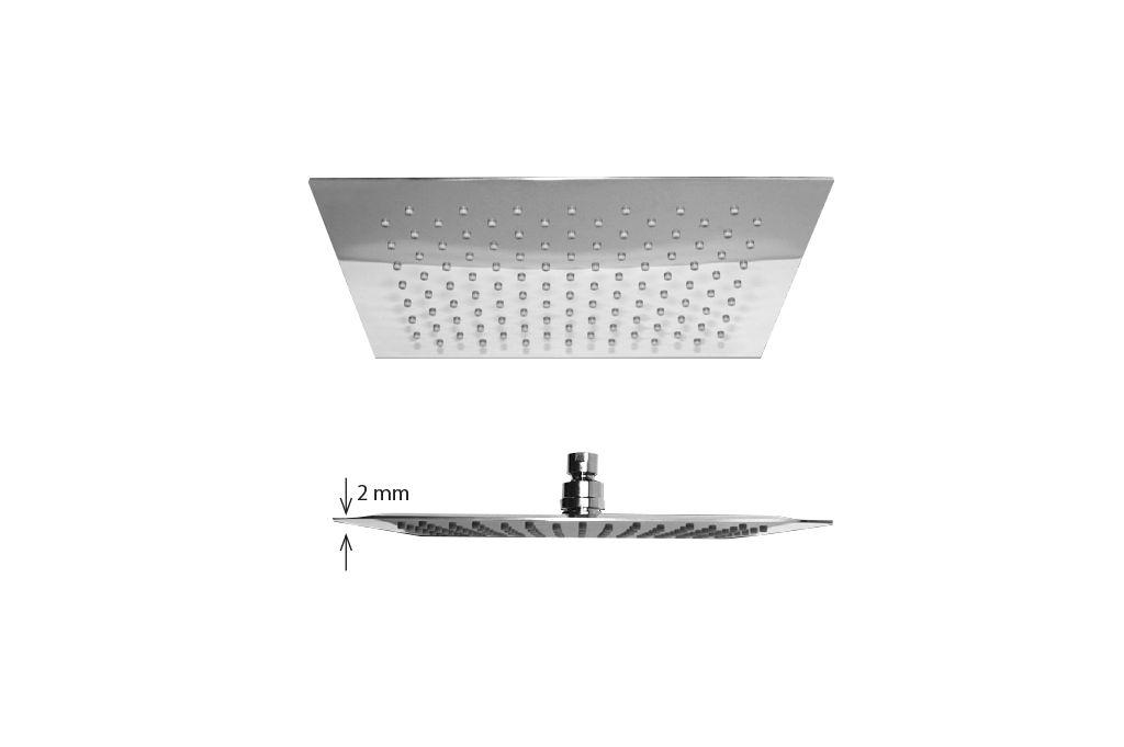 Best Design regendouche Square 40x40cm ultra thin 2mm