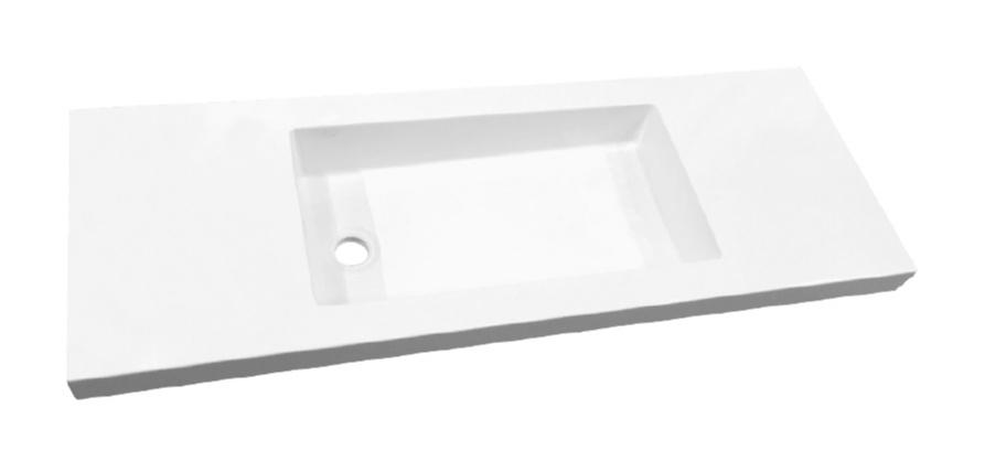 Best Design Slim 120cm wastafel zonder kraangat wit