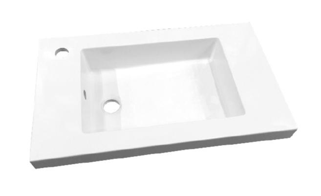 Best Design Slim 60cm wastafel met kraangat wit