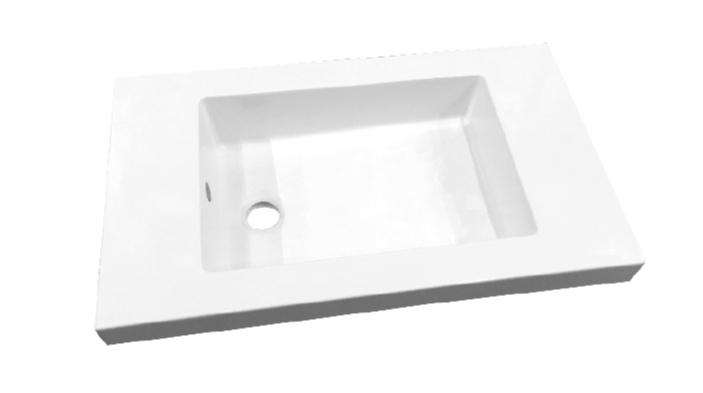 Best Design Slim 60cm wastafel zonder kraangat wit