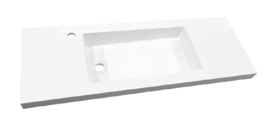 Best Design Slim 100cm wastafel met kraangat wit