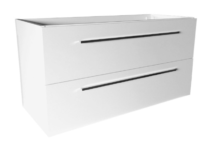 Best Design Slim compacte 120cm onderkast met RVS grepen