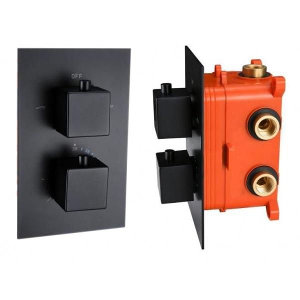 Best-Design Stylmo inbouwthermostaat met vierkante knoppen