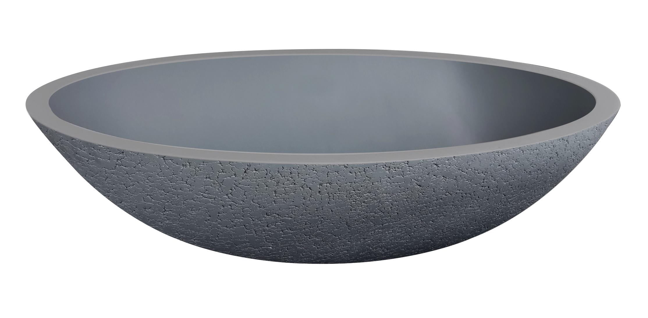 Best Design waskom solid surface grijs 52x38cm