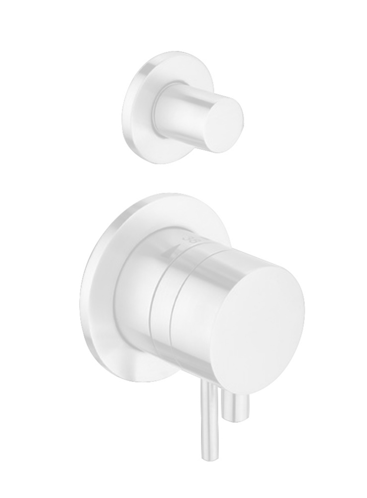 Best Design White 1/2 thermostatische inbouwkraan 2-weg mat wit RVS