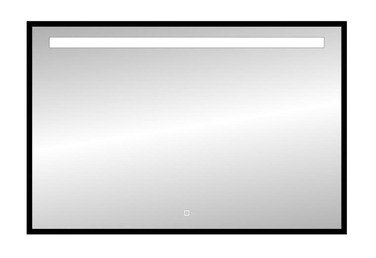 Best Design Black Miracle LED spiegel mat zwart 120x80cm