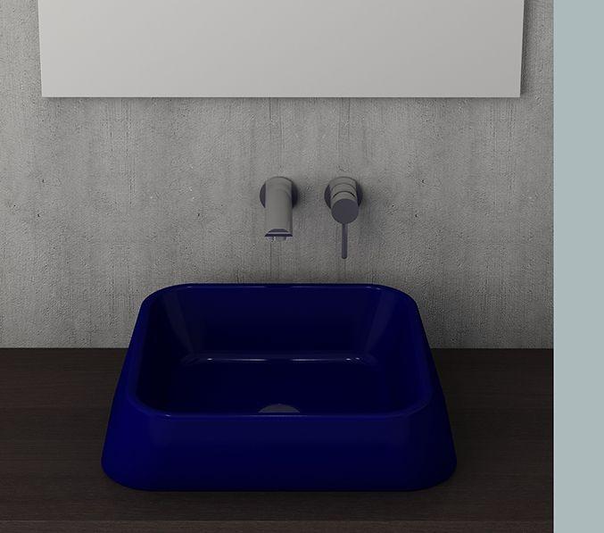 Bocchi Elba waskom glans blauw