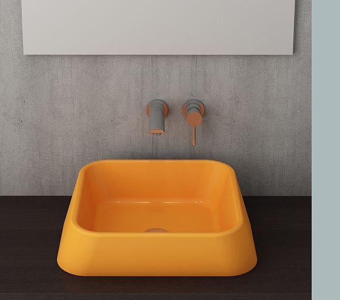 Bocchi Elba waskom glans geel