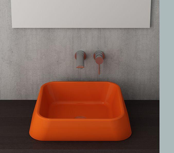 Bocchi Elba waskom glans oranje