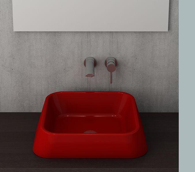 Bocchi Elba waskom glans rood