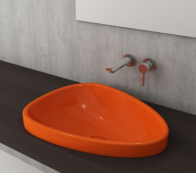 Badkamer Accessoires - Bocchi Etna opbouw waskom zonder kraangat ...