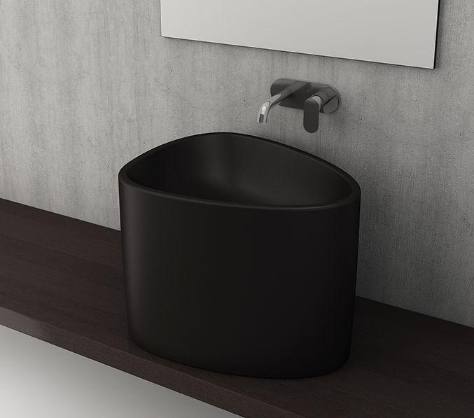 Bocchi Etna waskom zonder kraangat mat zwart