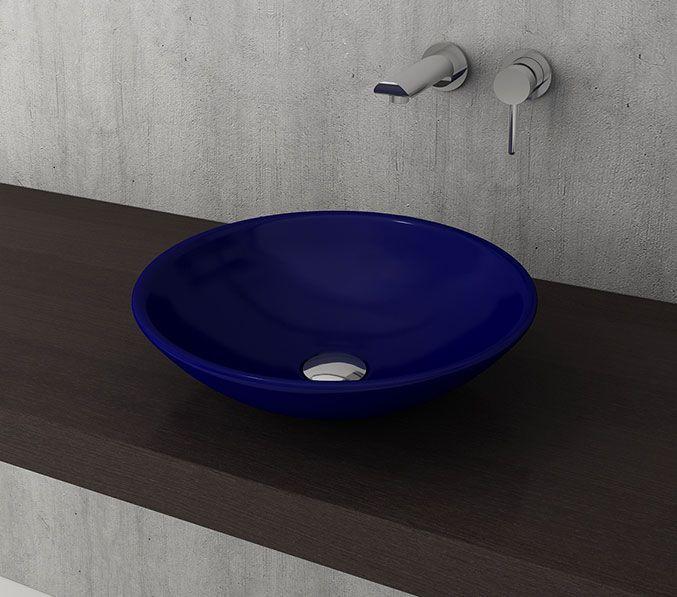 Bocchi Lucca waskom 40cm glans blauw