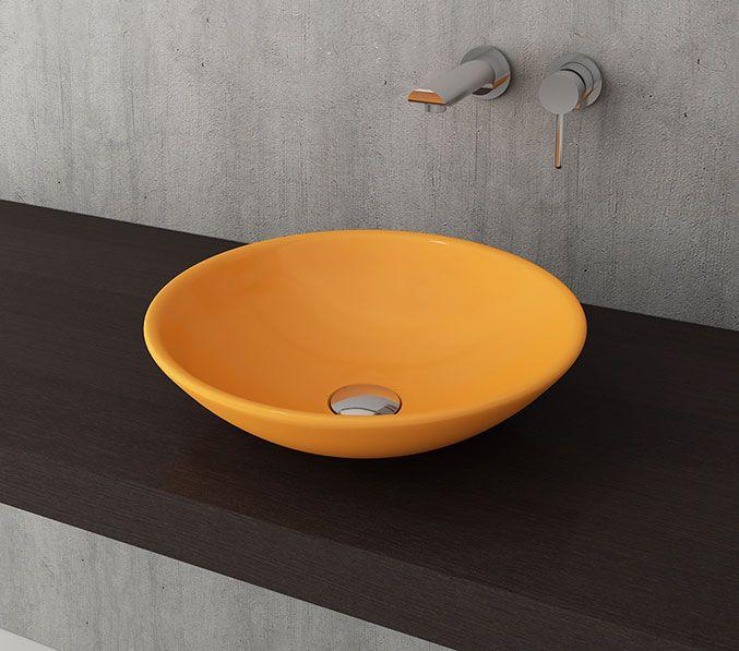 Bocchi Lucca waskom 40cm glans geel