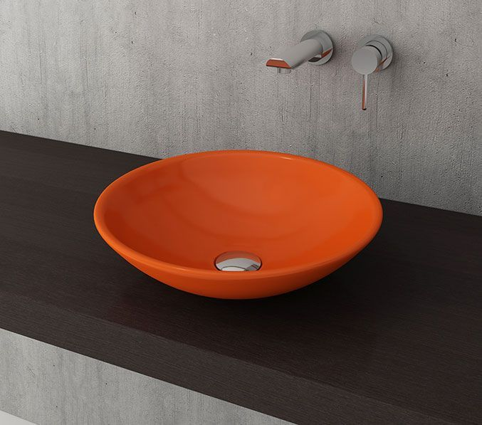Bocchi Lucca waskom 40cm glans oranje