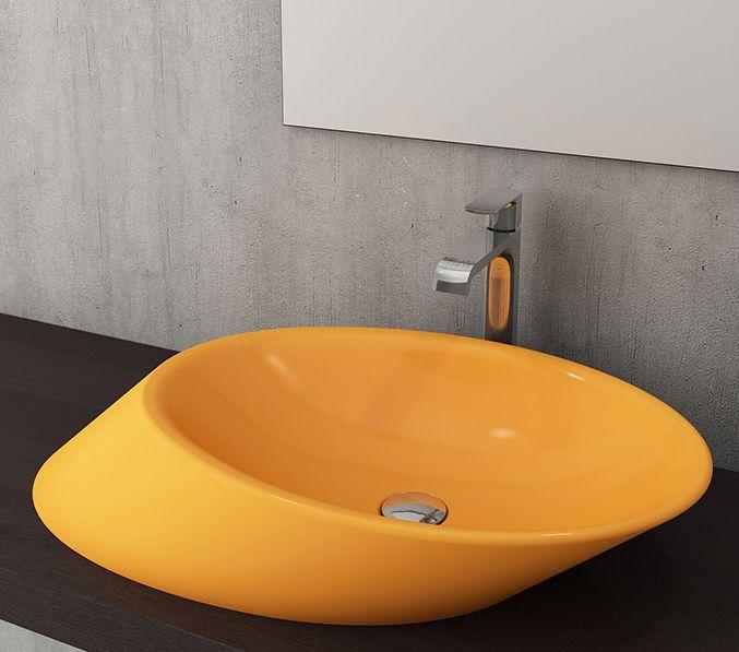 Bocchi Milano waskom zonder kraangat glans geel