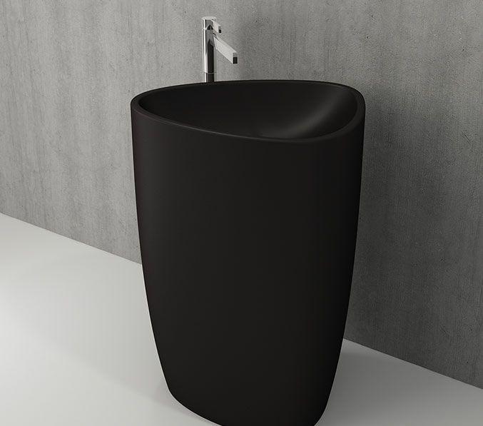 Bocchi Monoblock staande wastafel zonder kraangat mat zwart