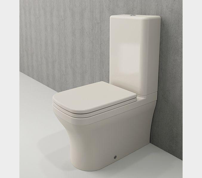 Bocchi Scala Arch staande toiletpot gebroken wit met spoelbak