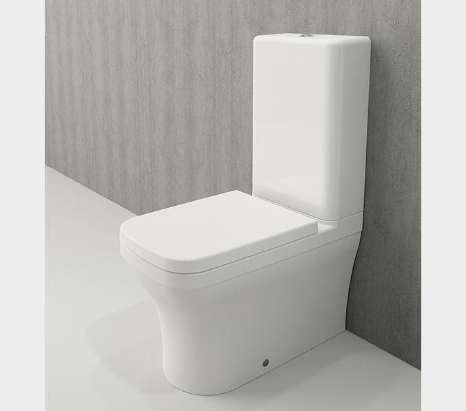 Bocchi Scala Arch staande toiletpot glans wit met spoelbak