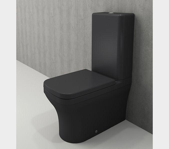 Bocchi Scala Arch staande toiletpot mat antraciet met spoelbak