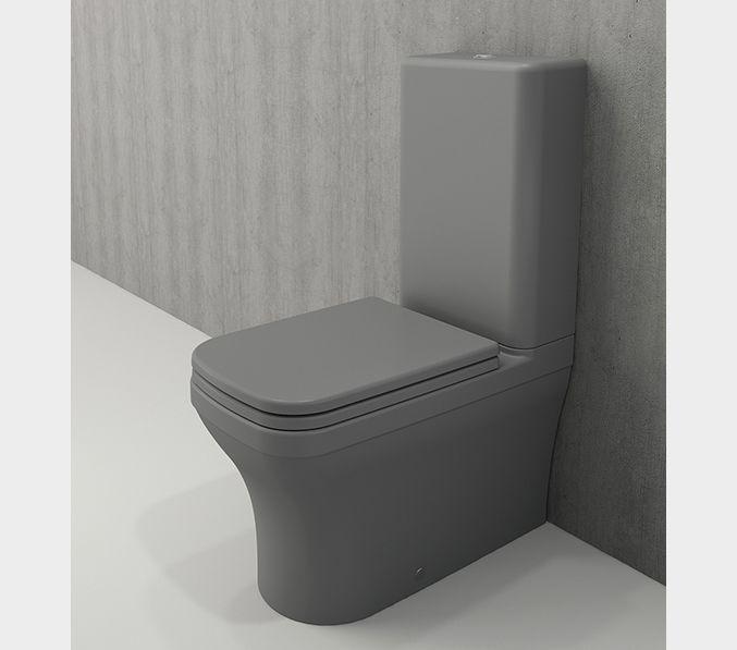 Bocchi Scala Arch staande toiletpot mat grijs met spoelbak