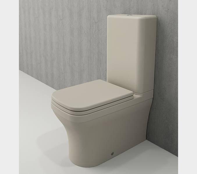Bocchi Scala Arch staande toiletpot mat jasmijn met spoelbak