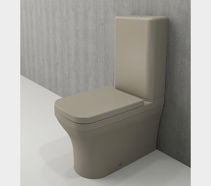 Bocchi Scala Arch staande toiletpot mat kashmir met spoelbak