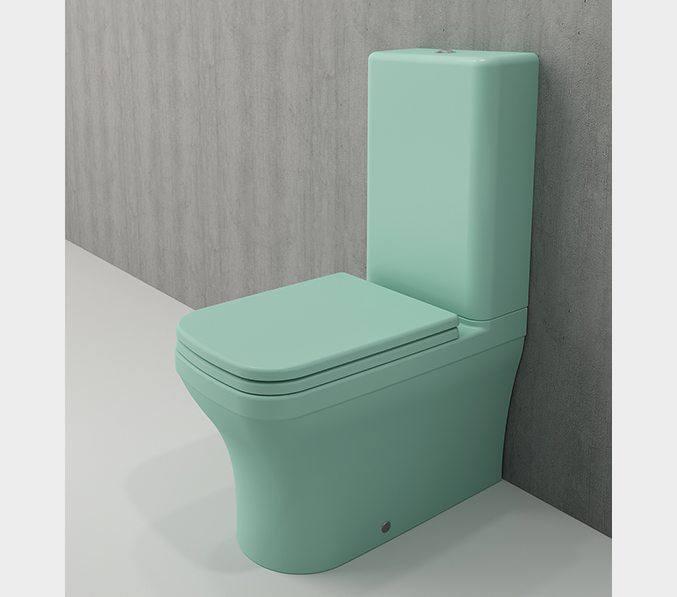 Bocchi Scala Arch staande toiletpot mat mint groen met spoelbak
