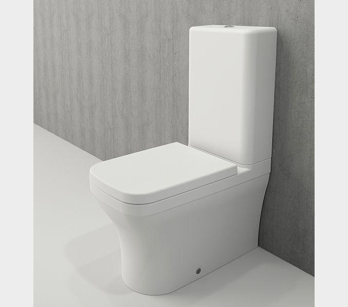 Bocchi Scala Arch staande toiletpot mat wit met spoelbak