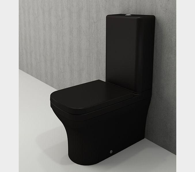 Bocchi Scala Arch staande toiletpot mat zwart met spoelbak