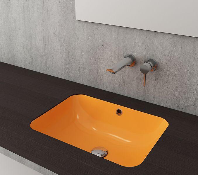 Bocchi Taormina Arch inbouw wastafel 55cm glans geel
