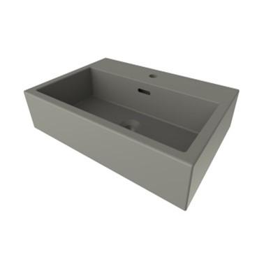 Bocchi Solid wastafel 60x40cm mat grijs