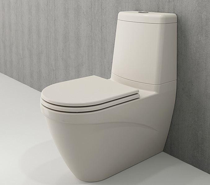 Bocchi Taormina Arch staande toiletpot gebroken wit met reservoir